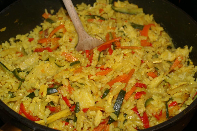Curryreis mit gem se ehrlich und echt - Reis kochen tasse ...