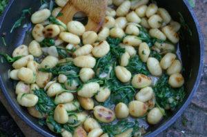 Gnocchi di patate con rucola