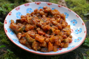 indisches Röstgemüse mit Tomaten