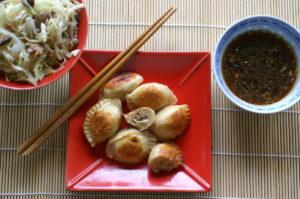 asiatische Teigtaschen mit Krautfülle
