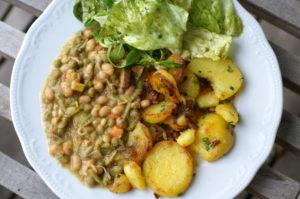Bohnengemüse mit Kartoffeln