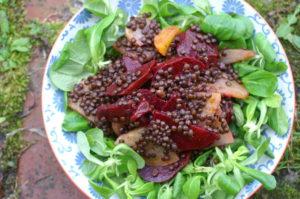 Rote Rüben-Linsen-Salat