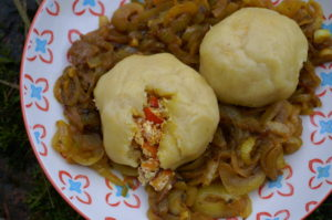 Kartoffelknödel mit Kürbisfülle