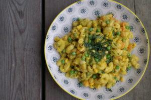 Nudelsalat mit Currycreme