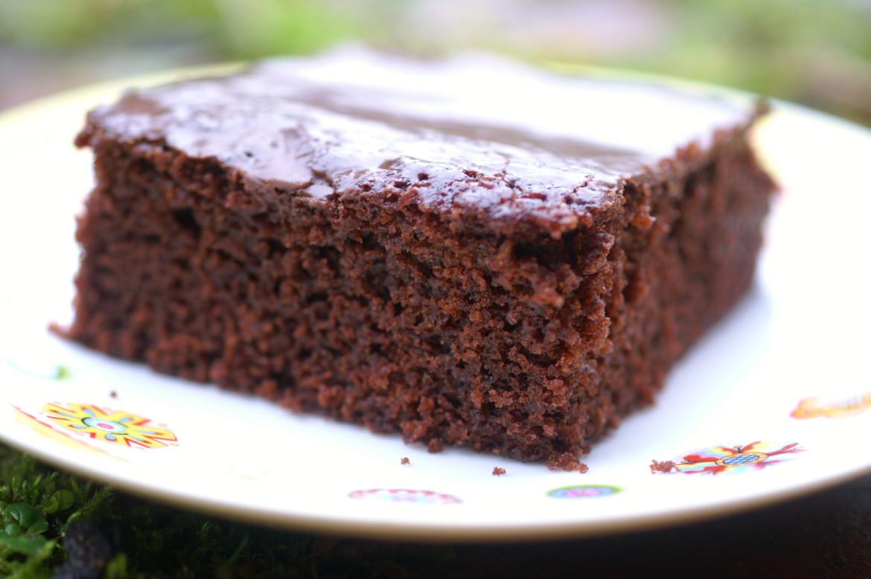 Schoko Kirsch Kuchen Mit Schokoglasur Ehrlich Und Echt