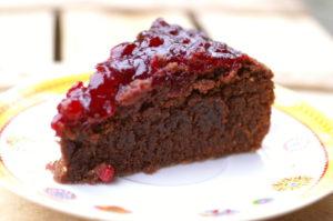 Preiselbeer-Schokolade-Torte