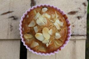 Apfelmuffins mit Mandelblättchen