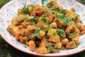 Kichererbsen-Salat mit Süßkartoffeln