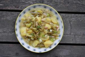 Kartoffelsalat mit Fisolen