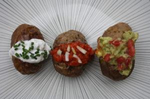 Ofenkartoffeln mit 3erlei Dip