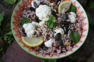 Karfiolsalat mit Reis