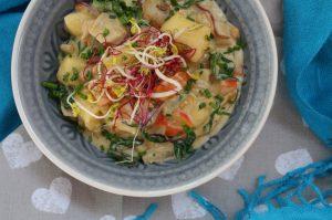 Gnocchi mit Pilzen und Kürbis