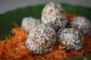 Karotten-Osterpralinen