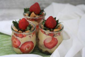 Erdbeer-Tiramisu mit Vanillecreme